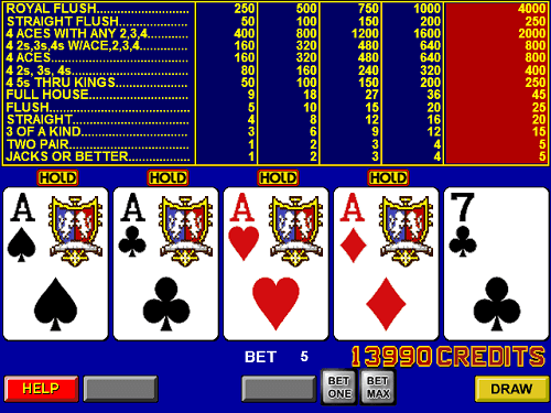 Video Poker questions