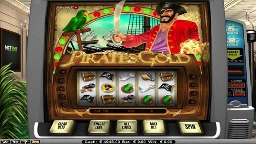 gold themed slot