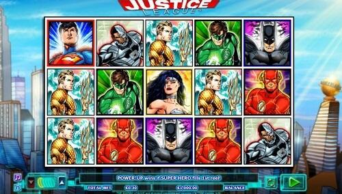 Justice League DC Comics Themed Slot