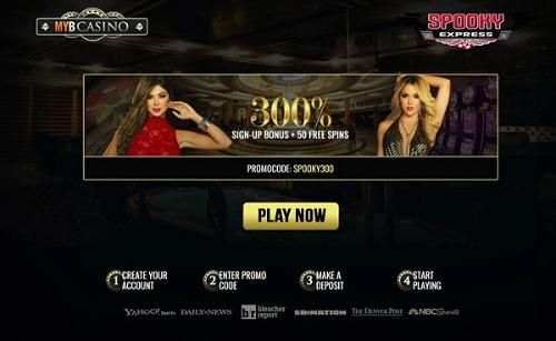MYB Casino games and bonuses